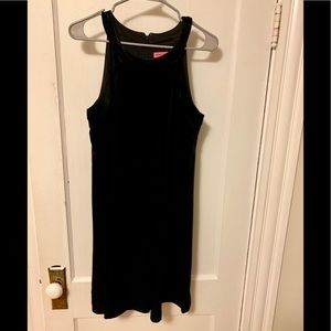 Betsy Johnson black velvet swing dress
